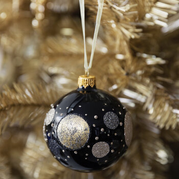 Galaxy Spot Bauble - Set of 6 - Black