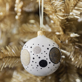 Galaxy Spot Bauble - Set of 6 - Wool White