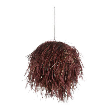 Feather/Tinsel Bauble - Wine