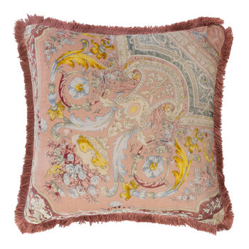Arles Bizet Cushion with Piping - 60x60cm - Pink