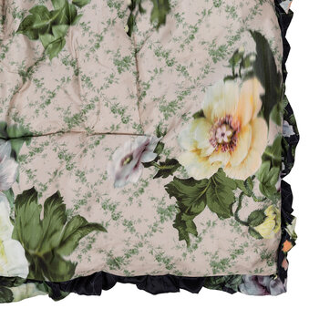 Printed Floral Eiderdown - Black Lotus Flower/Osaka Floral Green