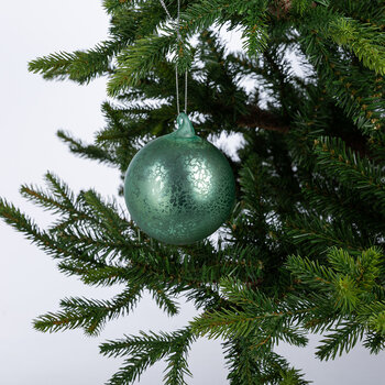 Mercury Effect Glass Bauble - Set of 6 - Light Green