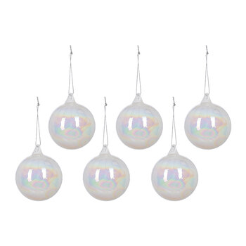 Pearl Bauble - Set of 6