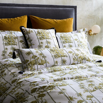 Laurel Duvet Cover - Olive
