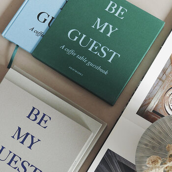 'Be My Guest' Guest Book - Green/Blue