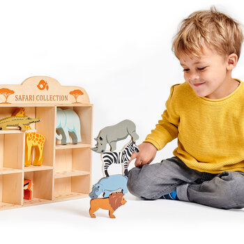 Kids Safari Animal Shelf - Set of 8