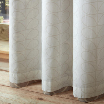 Linear Stem Curtains - Latte