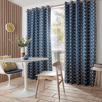 Linear Stem Curtains - Whale