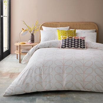 Linear Stem Duvet Cover - Cloud Pink
