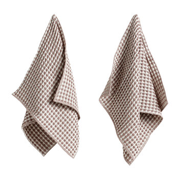 Twist Dish Cloth & Tea Towel - Set of 4 - Burgundy