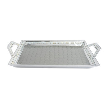 Classic Tray with Handles - Platinum
