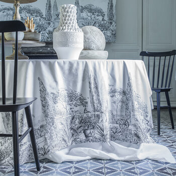 Este Tablecloth - Black & White - 150x250cm