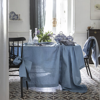 Florence Tablecloth - 170x320cm - Aegean Blue