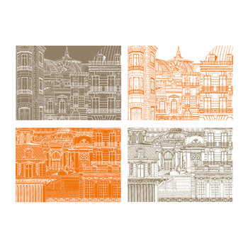 Rivoli Placemat Sketchbook - 28 Sets - Orange