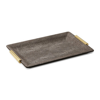 Shagreen Vanity Tray - Small - Chocolate