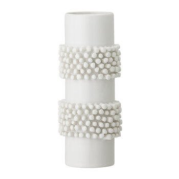 Ball Stoneware Vase - White