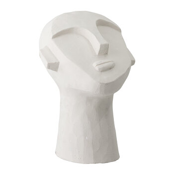 Deco Abstract Face Ornament - White