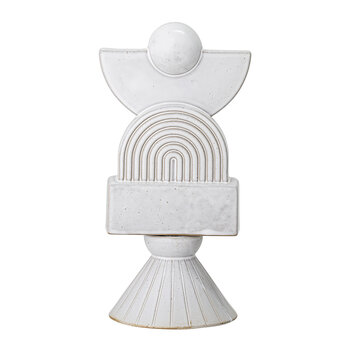 Deco Stoneware Ornament - White