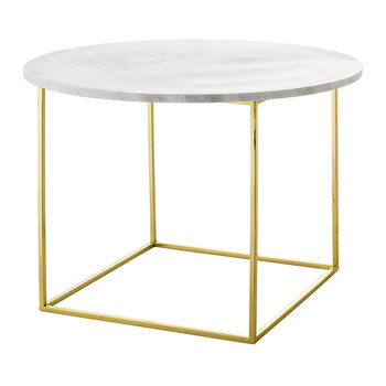 Table Basse en Marbre Eva - Blanc