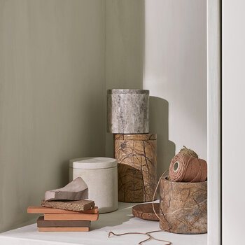 Osvald Canister - Brown Marble