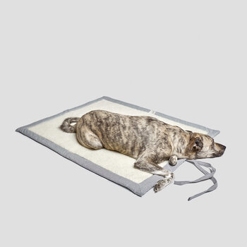 Tweed Dog Mat - Gray