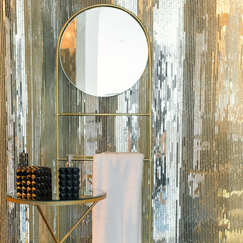 Round Mirror/Towel Rail