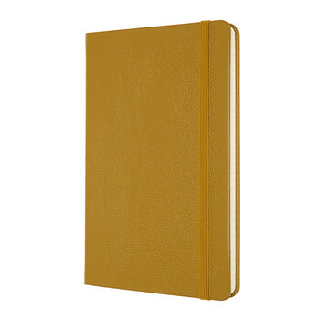 Classic Leather Notebook - Amber Yellow