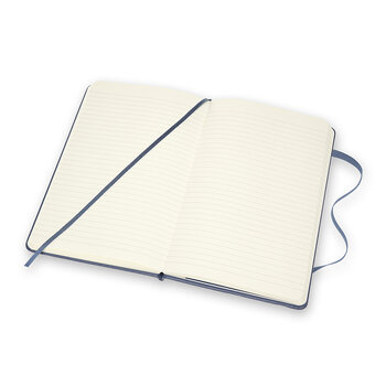 Classic Leather Notebook - Forget Me Not Blue