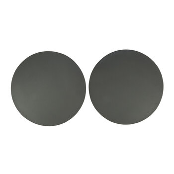 Double Sided Leather Placemat - Set of 2 - Gray