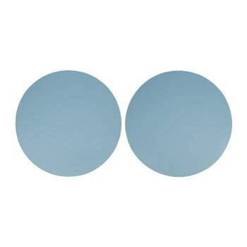 Set de Table Double Face en Cuir Végan – Lot de 2 - Bleu Pierre