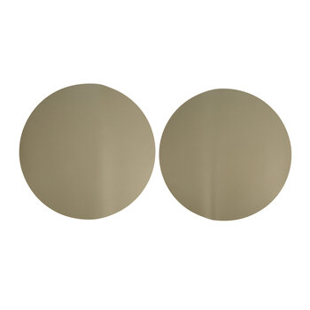 Double Sided Leather Placemat - Set of 2 - Taupe
