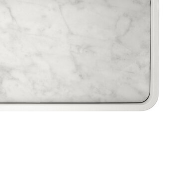Marble Shower Tray - White