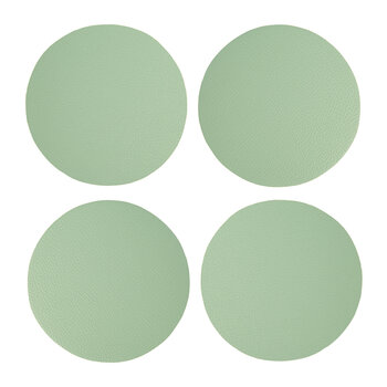 Double Sided Vegan Leather Coasters - Set of 4 - Green