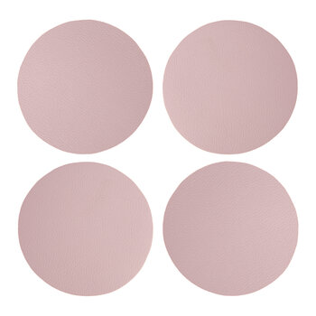 Double Sided Vegan Leather Coasters - Set of 4 - Mauve
