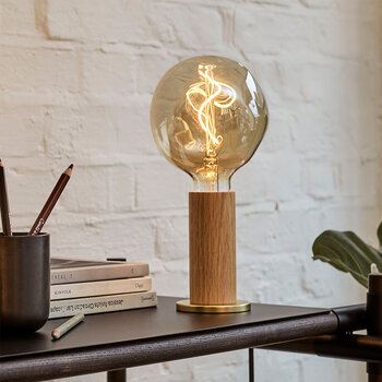 Knuckle Voronoi Bulb Table Lamp - Oak