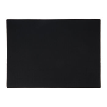 Grain Effect Vegan Leather Placemat - Set of 2 - Black