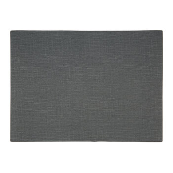 Grain Effect Vegan Leather Placemat - Set of 2 - Charcoal