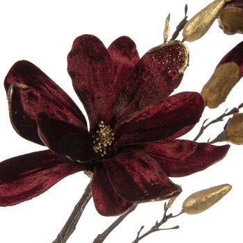Magnolia Branch Pick - Burgundy