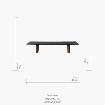 Column Rectangular Shelf - Walnut