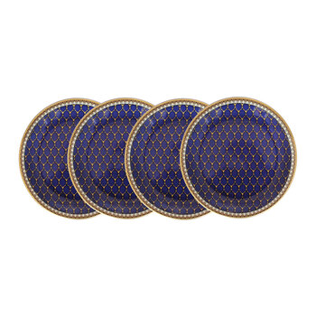 Gordon Castle Antler Trellis Coaster - Set of 4 - Midnight
