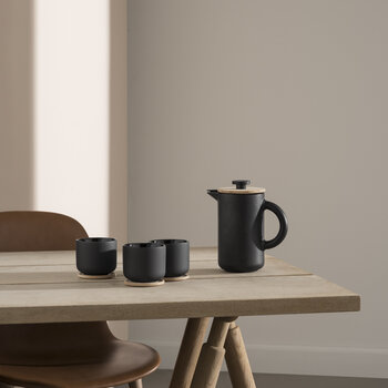 Theo Teacup with Coaster - Anthracite