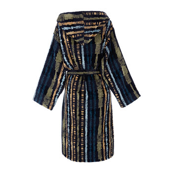 Kamum Hooded Bathrobe - Blue