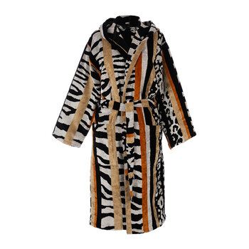 Savana Hooded Bathrobe - Black