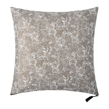 Floral Jacquard Cushion - Grey - 60x60cm