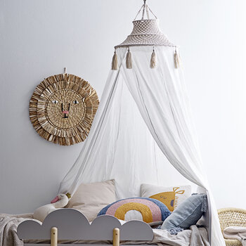 Kids Bed Canopy - White