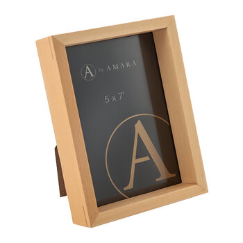 Inset Photo Frame - Set of 2 - Light Wood