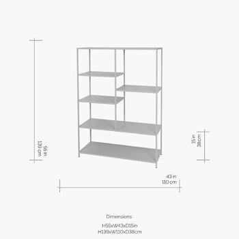 Ryle Bookcase - Large - Drizzle