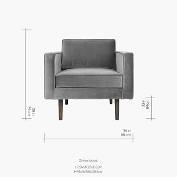 Wind Armchair - Drizzle