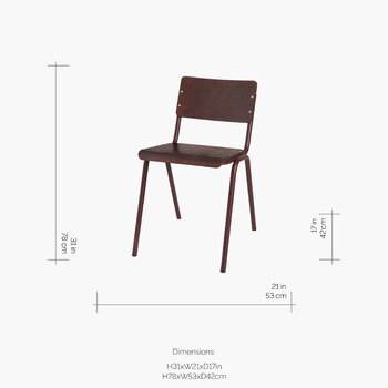 Ole Steel Wood Chair - Wild Ginger
