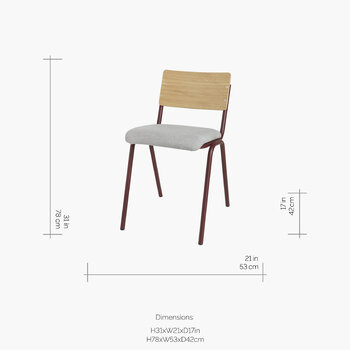 Ole Steel Wood Chair - Wild Ginger/Drizzle